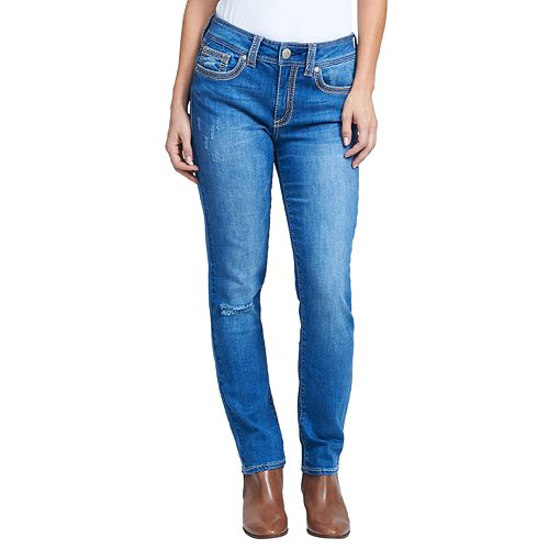 Women's Seven7 Rocker Midrise Straight-Leg Jeans
