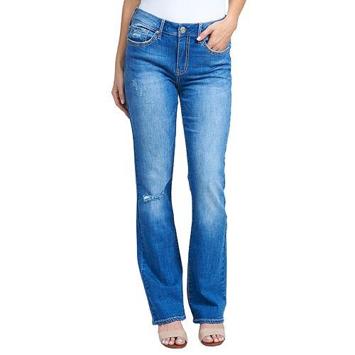 Women's Seven7 Rocker Midrise Slim Bootcut Jeans