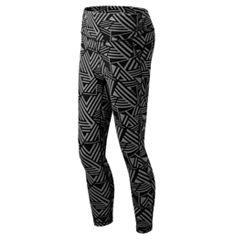 Women's New Balance Transform Print High-Waisted Crop Leggings