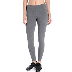 bed974d136beca Women's Danskin Wide Waist Ankle Leggings. Charcoal Gray Heather Rich Black  ...