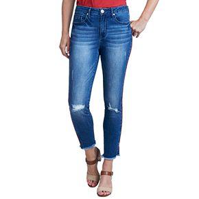 Women's Seven7 Raw-Hem Midrise Skinny Ankle Jeans