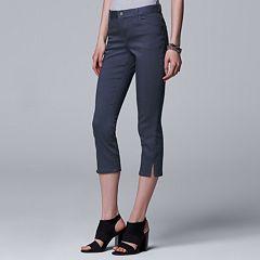 Women's Simply Vera Vera Wang Side Slit Capri Jeans
