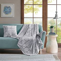 Intelligent Design Khloe Metallic Print Throw