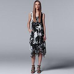 Petite Simply Vera Vera Wang Print Handkerchief Tank Dress