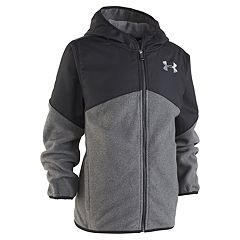 Boys 4-7 Under Armour ColdGear Gray Lightweight Microfleece Hooded Jacket