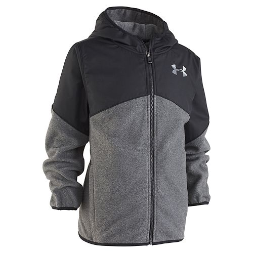 Boys 4-7 Under Armour ColdGear Gray Lightweight Microfleece Hooded Jacket