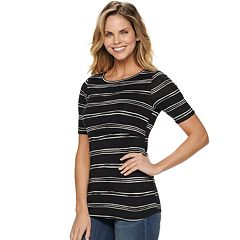 bbb158d103d7f2 V-Neck Top. Maternity a glow Empire Popover Nursing Top