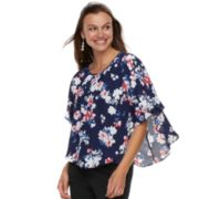 Women's ELLE? Crepe Popover Top