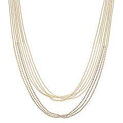 Multistrand Rhinestone Chain Statement Necklace