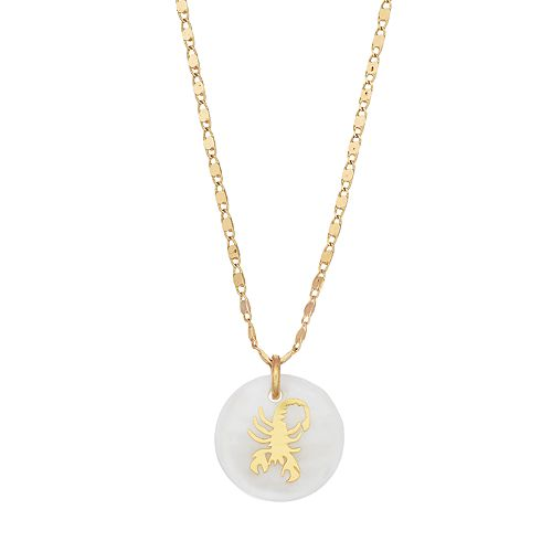 LC Lauren Conrad Mother-of-Pearl Zodiac Pendant