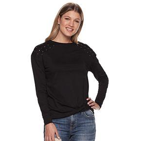 Women's Rock & Republic® Studded Sweatshirt