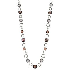 Dana Buchman Long Abalone Link Necklace