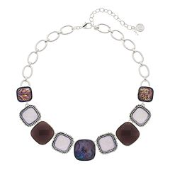 Dana Buchman Purple Simulated Abalone Statement Collar Necklace