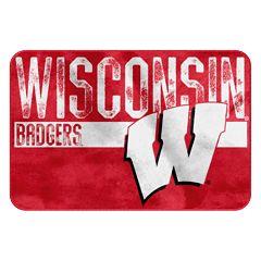 Wisconsin Badgers Memory Foam Bath Mat