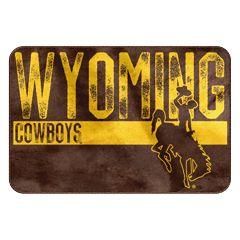 Wyoming Cowboys Memory Foam Bath Mat