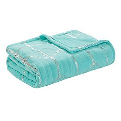 True North by Sleep Philosophy Khloe Metallic Print Heated Throw