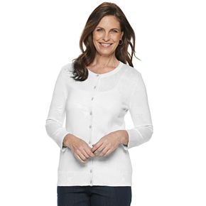 Women's Croft & Barrow® Essential Cardigan Sweater
