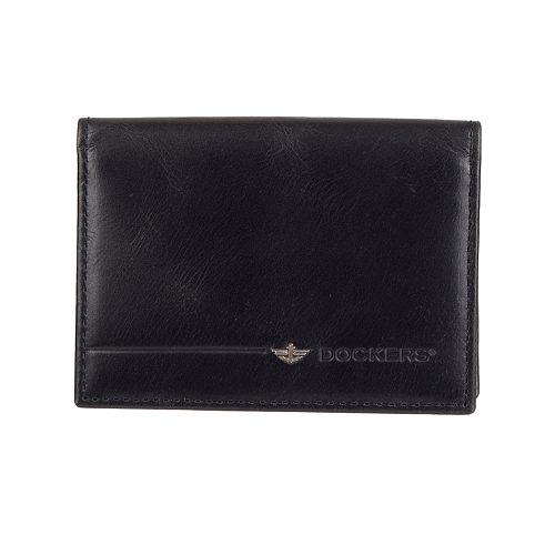 Men's Dockers® RFID-Blocking Leather Card Case Wallet