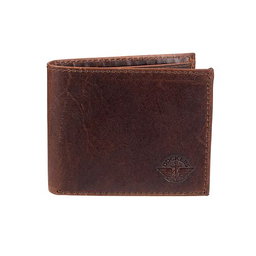 Men's Dockers® RFID-Blocking Leather Traveler Wallet