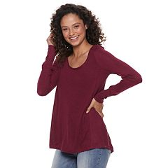 Juniors' Mudd® Hatchi Long Sleeve Tunic