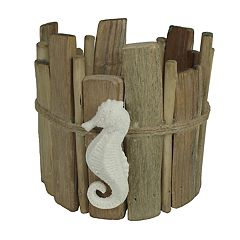 SONOMA Goods for Life™ Faux Driftwood Seahorse Large Candle Jar Holder