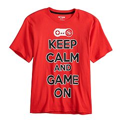 Boys 8-20 'Keep Calm And Game On' Graphic Tee