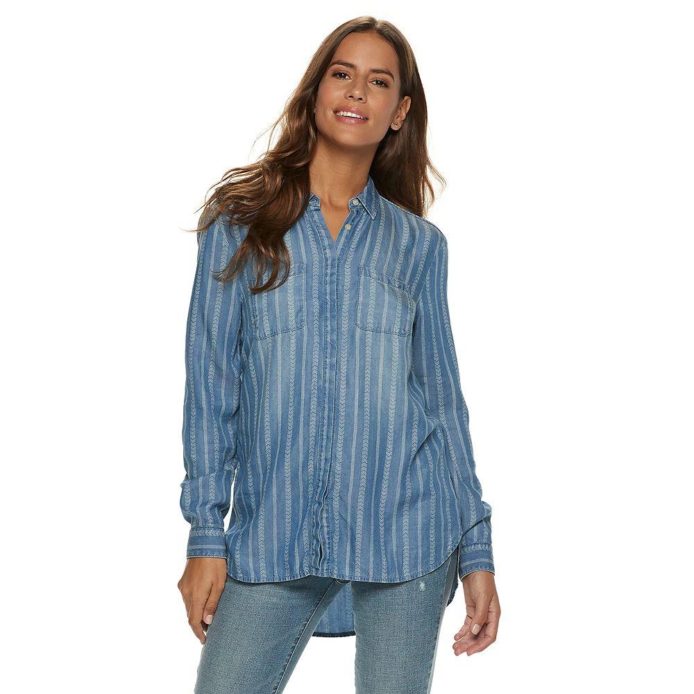 Women's SONOMA Goods for Life® Chambray Shirt