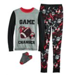 Boys 4-10 Cuddl Duds Sports 2-Piece Pajama Set With Socks