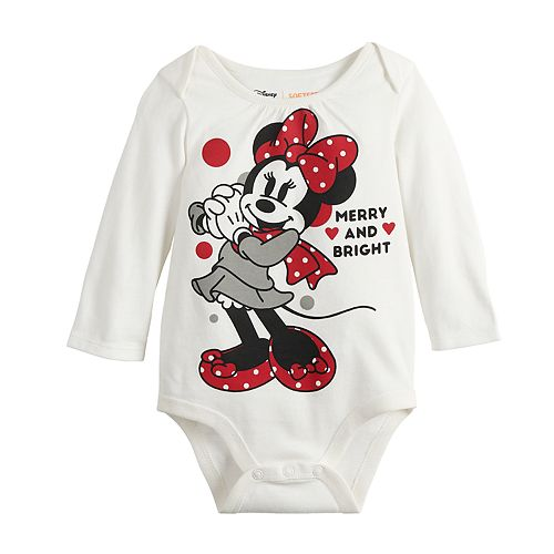 Disney's Minnie Mouse Baby Girl Graphic Bodysuit by Jumping Beans®