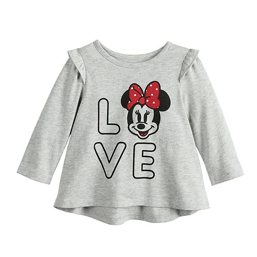 """Disney's Minnie Mouse Baby Girl """"Love"""" Swing Tee by Jumping Beans®"""