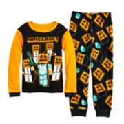 Boys 6-12 Minecraft Halloween 2-Piece Pajama Set