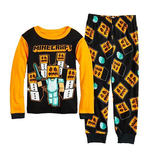Boys 6-12 Minecraft Halloween 2-Piece Pajama Set
