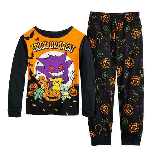 Boys 6-12 Pokemon Halloween 2-Piece Pajama Set