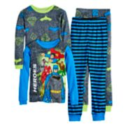 Boys 4-10 Justice League Heroes 4-Piece Pajama Set
