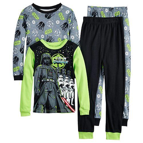 Boys 4-10 Star-Wars 4-Piece Pajama Set