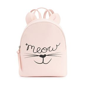 """T-Shirt & Jeans """"Meow"""" Mini Backpack"""