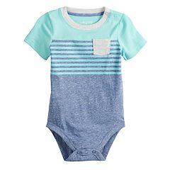Baby Boy Jumping Beans® Striped Pocket Bodysuit