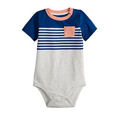 Baby Boy Jumping Beans® Striped Pocket Bodysuit