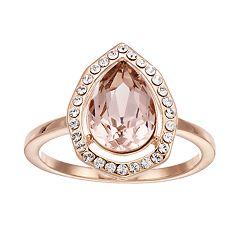 Brilliance Swarovski Crystal Pear Cut Ring