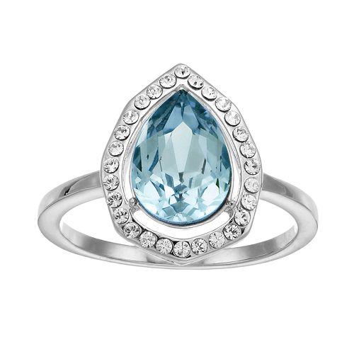 Brilliance Pear Cut Ring with Swarovski Crystal
