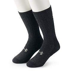 Men's Under Armour 2-pack ColdGear® Wool-Blend Outdoor Boot Socks
