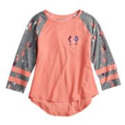 Girls 7-16 Mudd® 3/4 Sleeve Graphic Varsity Tee