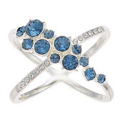 Brilliance Swarovski Crystal Cluster X-Ring