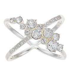 Brilliance Cluster X-Ring with Swarovski Crystal