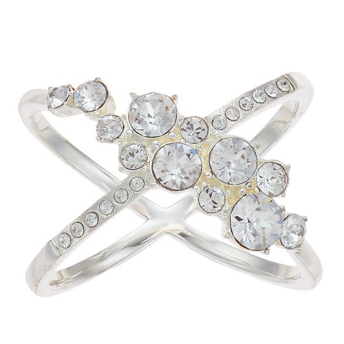 Brilliance Cluster X-Ring with Swarovski Crystal