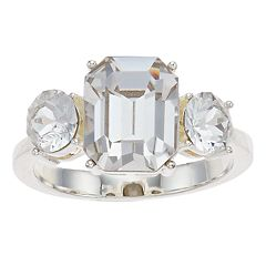 Brilliance 3-Stone Ring with Swarovski Crystals