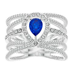 Brilliance Rope Band Ring with Swarovski Crystal