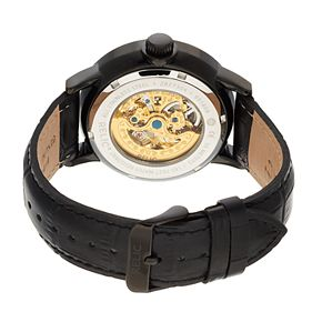 Relic by Fossil Men's Damon Leather Automatic Skeleton Watch - ZR77304