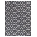 Chevron Diamond Flat-woven Area Rug