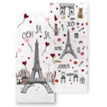Celebrate Valentine's Day Together Eiffel Tower Kitchen Towel 2-pack
